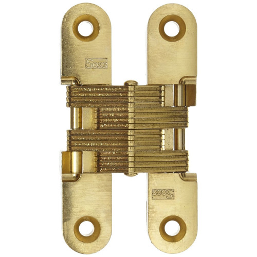 Soss Invisible Hinge Electro Brass 42 × 9.5mm