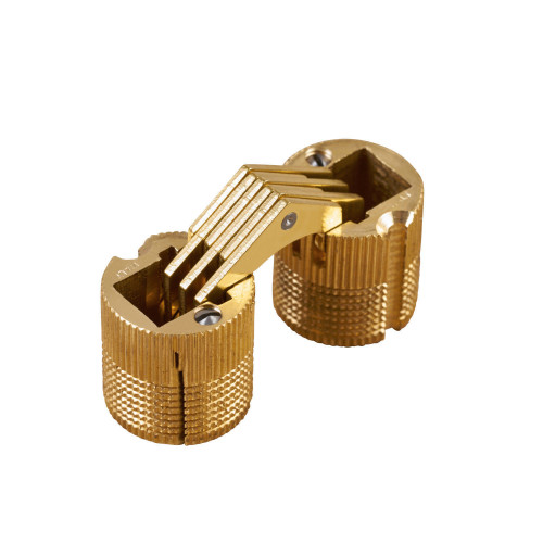 Cylindrical Hinge Matt Brass 14mm