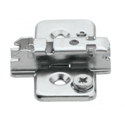 Blum Hinge Clip Mounting Plate Cruciform Pressed Steel 2-Part Adjustable 0mm - 175L8100