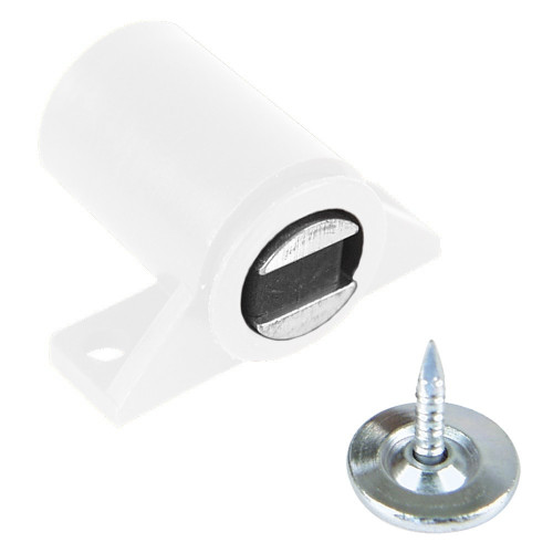 Magnetic Catch Screw-On Circular White 4Kg