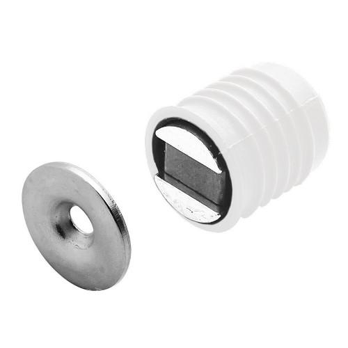 Magnetic Catch Press Fit Circular 9mm Diameter White 2Kg