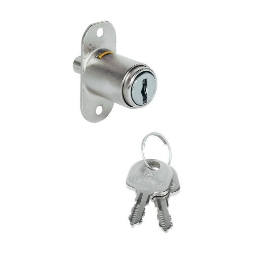 Sliding Door Lock Nickel Plate 18mm Dia X 42mm Nozzle