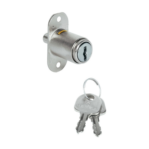 Sliding Door Lock Nickel Plate 18mm Dia X 42mm Nozzle