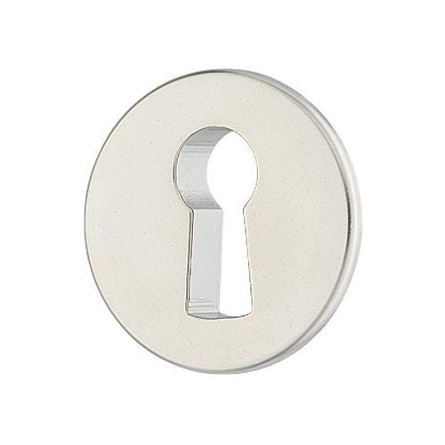 Escutcheon Circular Inset Matt Nickel 24mm