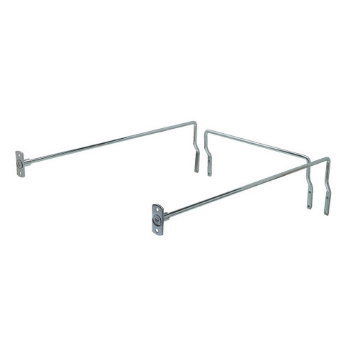 Drawer Filing Rail Set Chrome 450mm