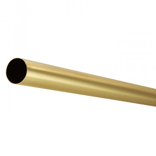 Wardrobe Rail 25mm Round Tube Electro Brass 4m Length