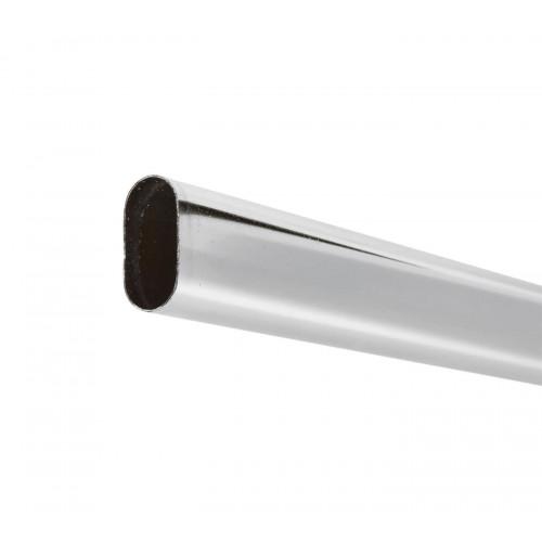 Wardrobe Rail Oval Tube Chrome Plate 30 x 15mm 4m Length