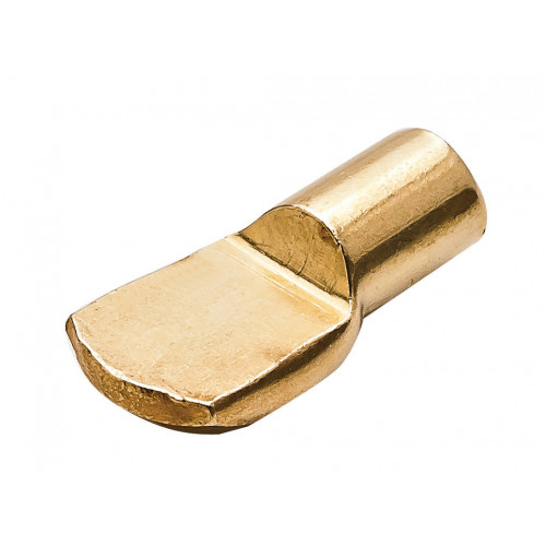 Shelf Stud Spoon Type Electro Brass 17 × 6.5mm For 4mm Drill Hole