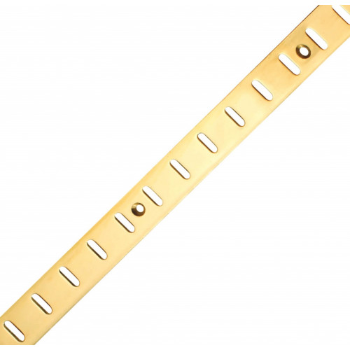 Bookcase Strip Flat Electro Brass 1829 x 19mm
