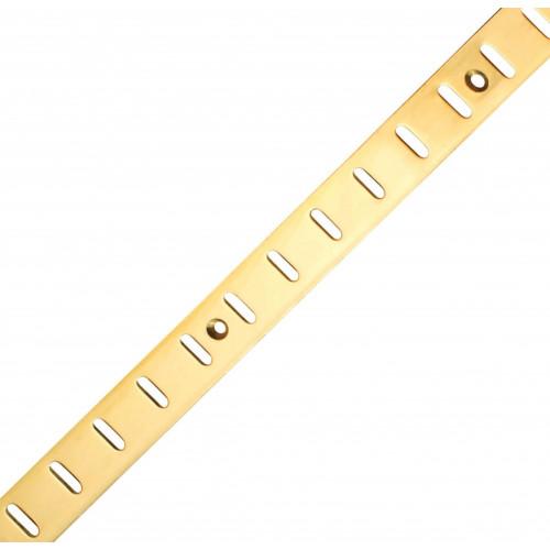 Bookcase Strip Flat Electro Brass 1829 x 19mm