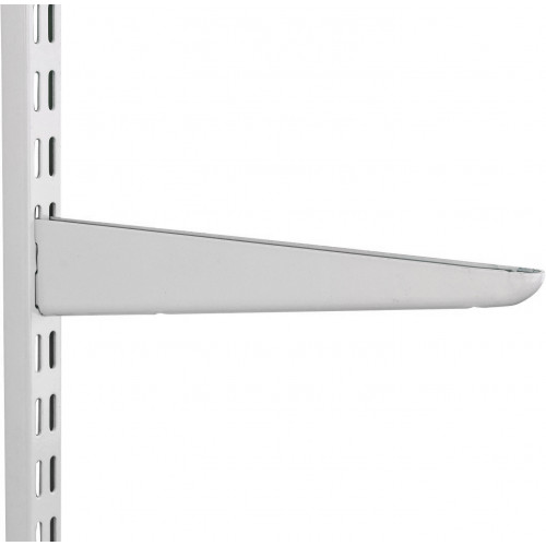Shelving Twinslot Bracket White 120mm