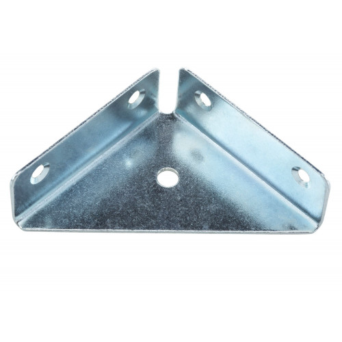 Corner Bracket Gusseted BZP 64 × 64mm