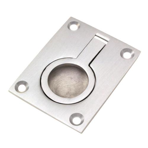 Flush Ring Pull Polished Chrome 51mm × 67mm