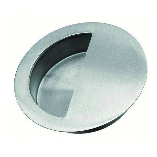 Flush Pull Round Pollished Stainless Steel Diameter 90mm