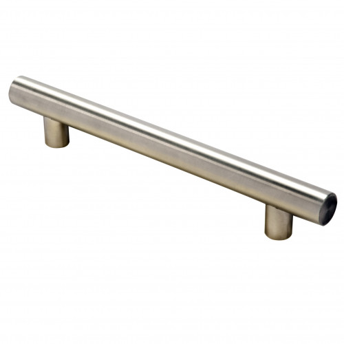 Pull Handle T-Bar Satin Nickel 96mm Fixing Centres 0verall Length 156mm