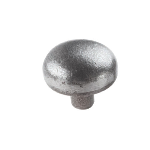 Warwick Mushroom Knob Smooth Iron Finish Diameter 34mm