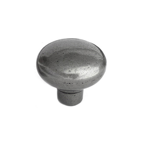 Bourton Knob Smooth Iron Finish Diameter 34mm