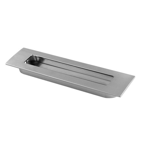 Flush Pull Handle Satin Stainless Steel 155 X 37mm