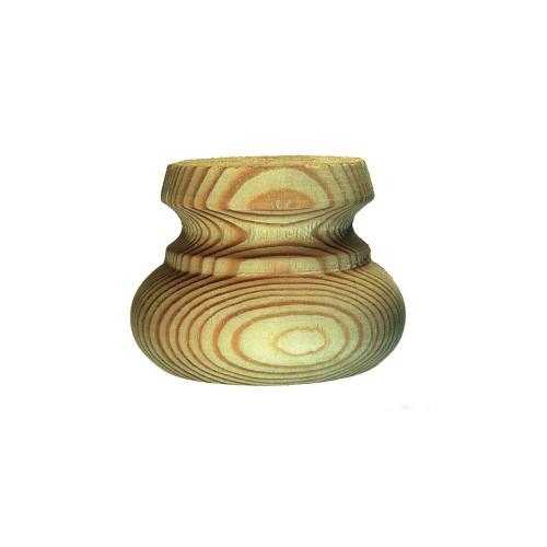 Bun Foot Standard Style Pine Diameter 90mm Height 50mm