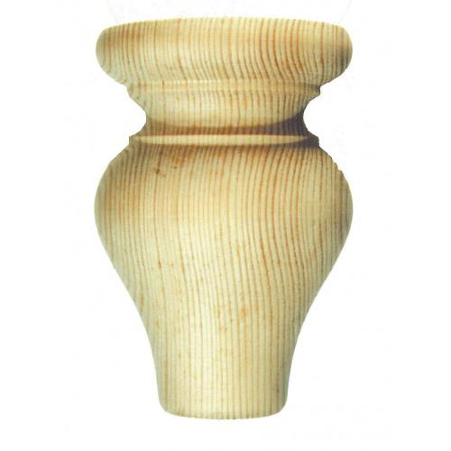 Bun Foot Tulip Style Pine Diameter 90mm Height 110mm