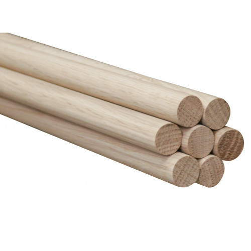 "Dowel Plain Oak Diameter 1/4"" Length 36"""