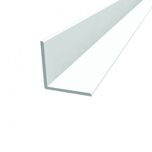 Angle Extrusion White Plastic 25mm × 25mm × 3m