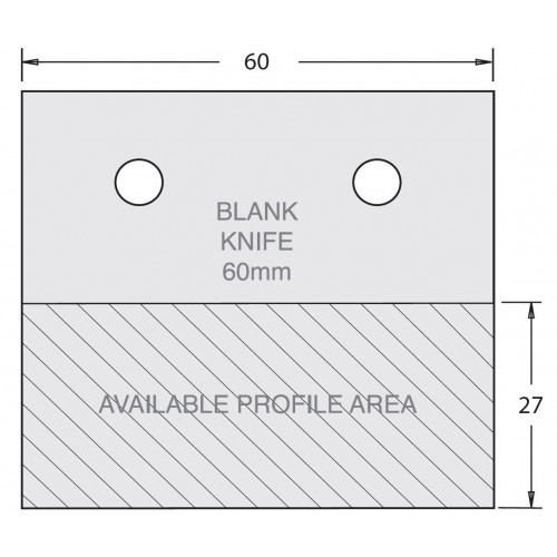 Euro Profile Cutter Blank HSS 60mm × 45mm Pair