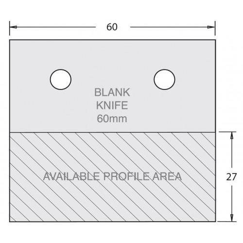 Euro Profile Cutter Blank HSS 60mm × 45mm Pair