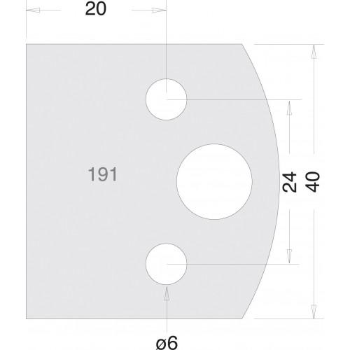 Euro Rebate Cutter 40mm × 20mm HSS Pair