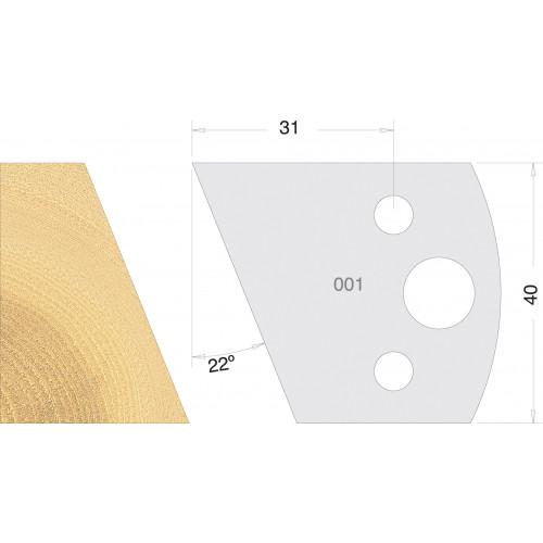 Euro Profile Cutters HSS 40mm Pair No. 001
