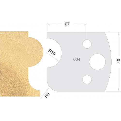 Euro Profile Cutters HSS 40mm Pair No. 004
