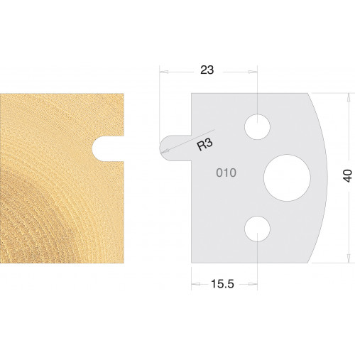 Euro Profile Cutters HSS 40mm Pair No. 010