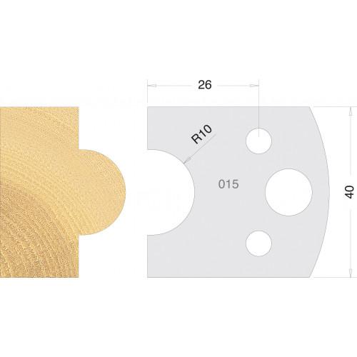 Euro Profile Cutters HSS 40mm Pair No. 015