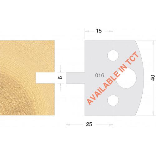 Euro Profile Cutters HSS 40mm Pair No. 016