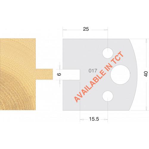 Euro Profile Cutters HSS 40mm Pair No. 017