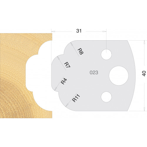 Euro Profile Cutters HSS 40mm Pair No. 023