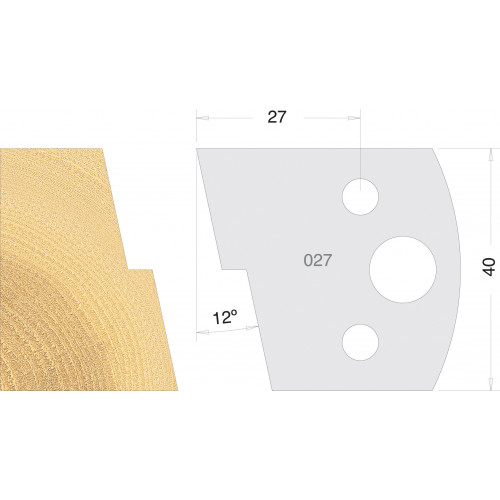 Euro Profile Cutters HSS 40mm Pair No. 027