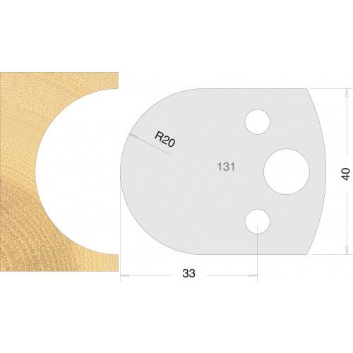 Euro Profile Cutters HSS 40mm Pair No. 131