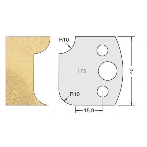 Euro Profile Cutters HSS 40mm Pair No. 175
