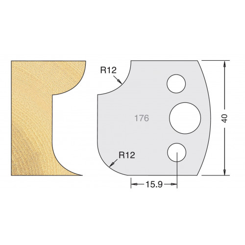 Euro Profile Cutters HSS 40mm Pair No. 176