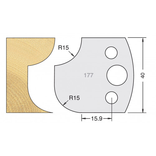 Euro Profile Cutters HSS 40mm Pair No. 177