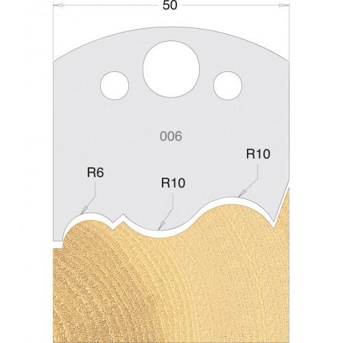 Euro Profile Cutters HSS 50mm Pair No. 006