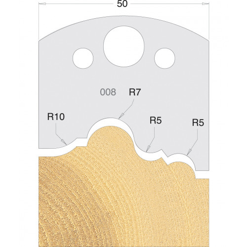 Euro Profile Cutters HSS 50mm Pair No. 008
