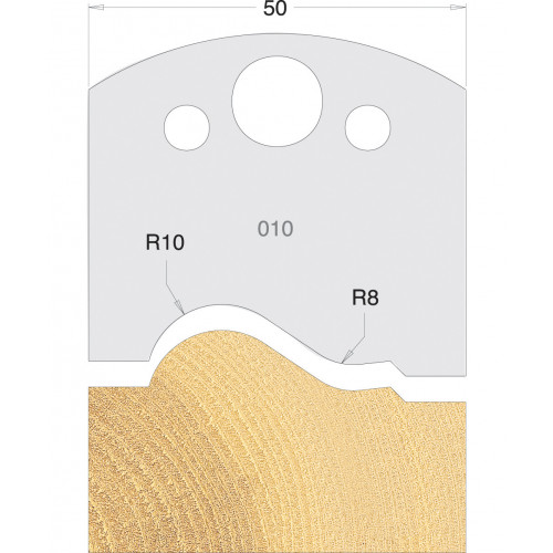 Euro Profile Cutters HSS 50mm Pair No. 010