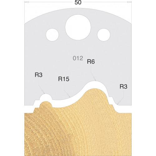 Euro Profile Cutters HSS 50mm Pair No. 012