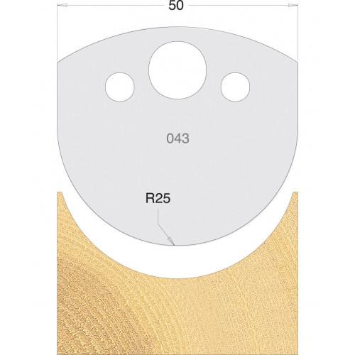 Euro Profile Cutters HSS 50mm Pair No. 043