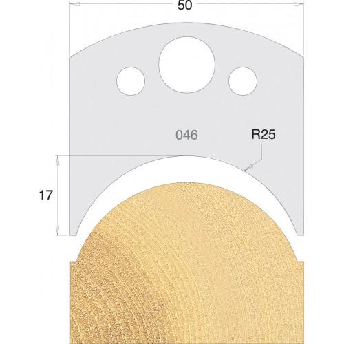 Euro Profile Cutters HSS 50mm Pair No. 046