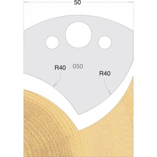 Euro Profile Cutters HSS 50mm Pair No. 050