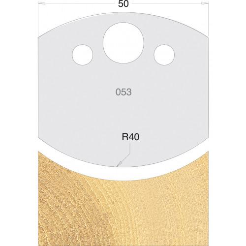 Euro Profile Cutters HSS 50mm Pair No. 053