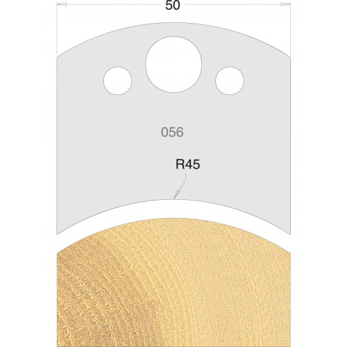 Euro Profile Cutters HSS 50mm Pair No. 056